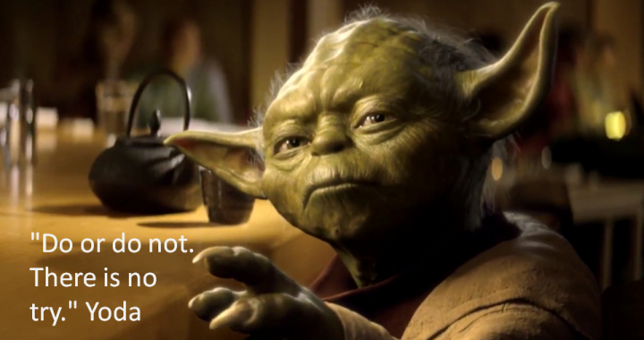 There is no try in youth work